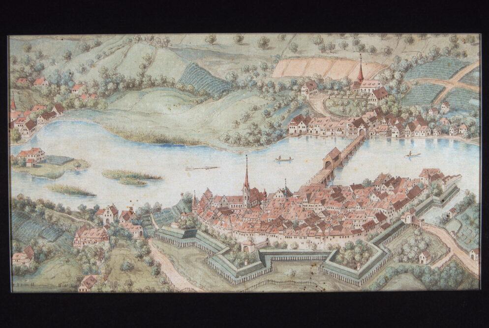 Stein am Rhein Ansicht von Norden 18. Jh.
